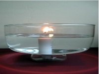 نگاه داشتن شمع روشن در زیر آب