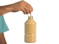 برنج شناور در بطری